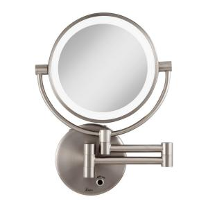 Zadro 12 inch L x 9 inch W LED Lighted Wall Mirror in Satin Nickel by Zadro