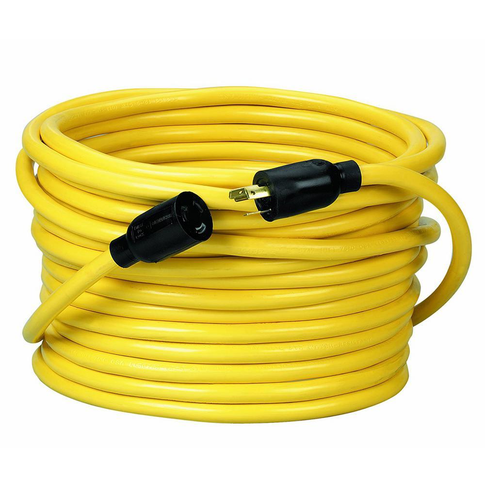 50 ft. 12/3 STW 20-Amp Power Distribution Outdoor Heavy-Duty Twist-Lock Generator Extension Cord