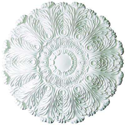 1-7/8 in. x 31-1/2 in. O.D. Acanthus Leaves Polyurethane Medallion Moulding