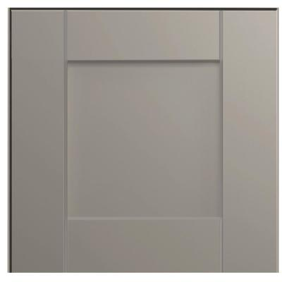 Shaker 12 3/4 x 12 3/4 in. Cabinet Door Sample in Dove Gray