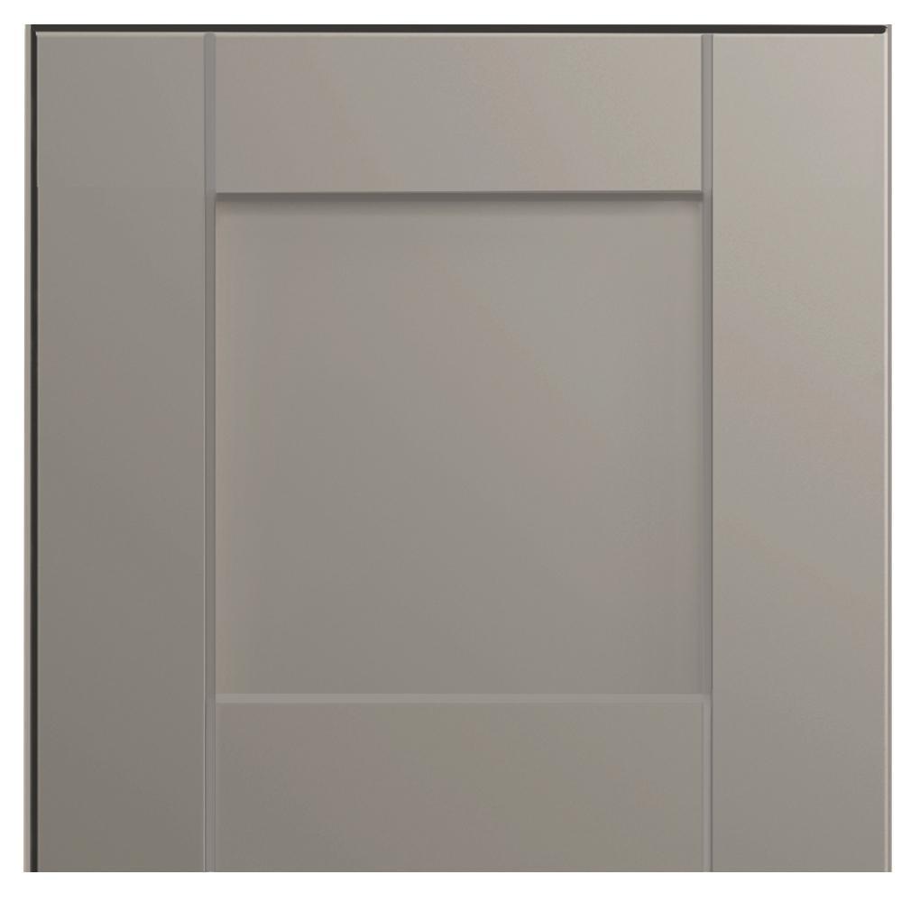 Shaker 12 3/4 x 12 3/4 in. Cabinet Door Sample in Dove Gray
