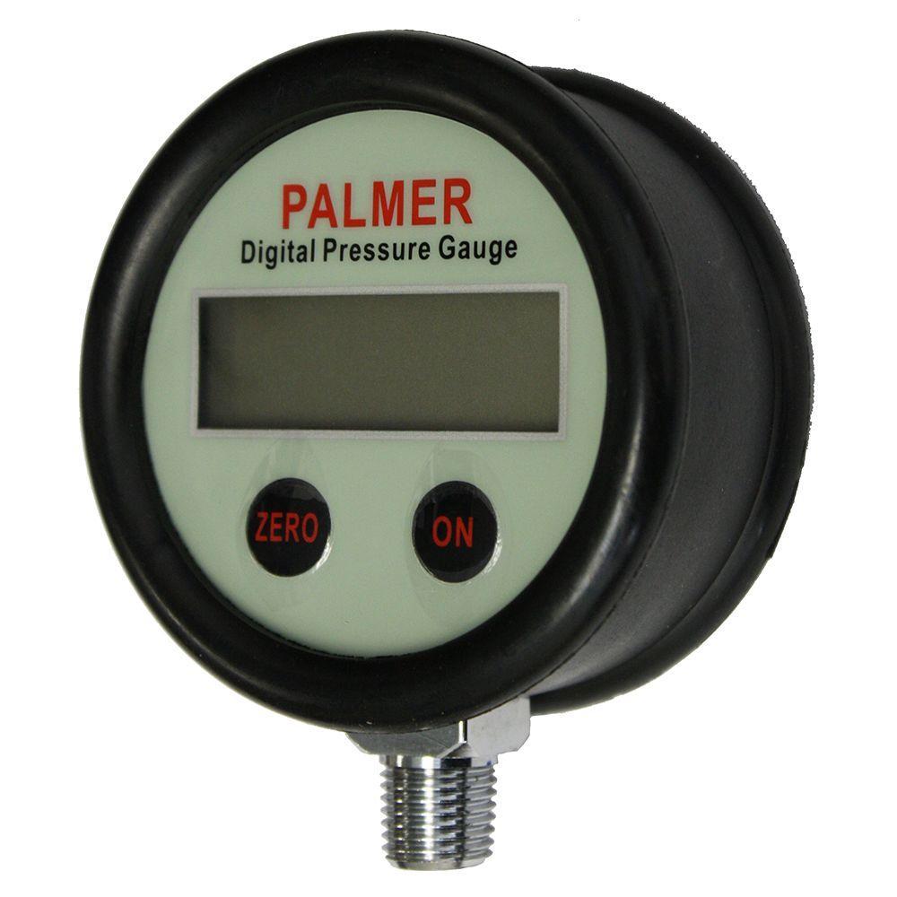 Palmer Instruments 2.5 in. 30 psi Clean Gas Type Digital Pressure Gauge