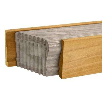 6710 16 ft. Unfinished Pine Bending Stair Handrail Mould