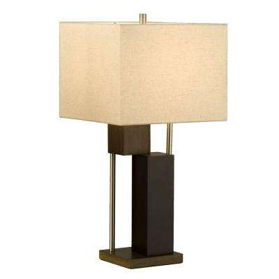 Astrulux 28 in. Dark Brown Table Lamp