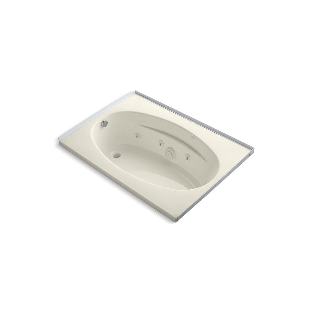 KOHLER Proflex 5 ft. Drop-in Whirlpool Tub in Biscuit