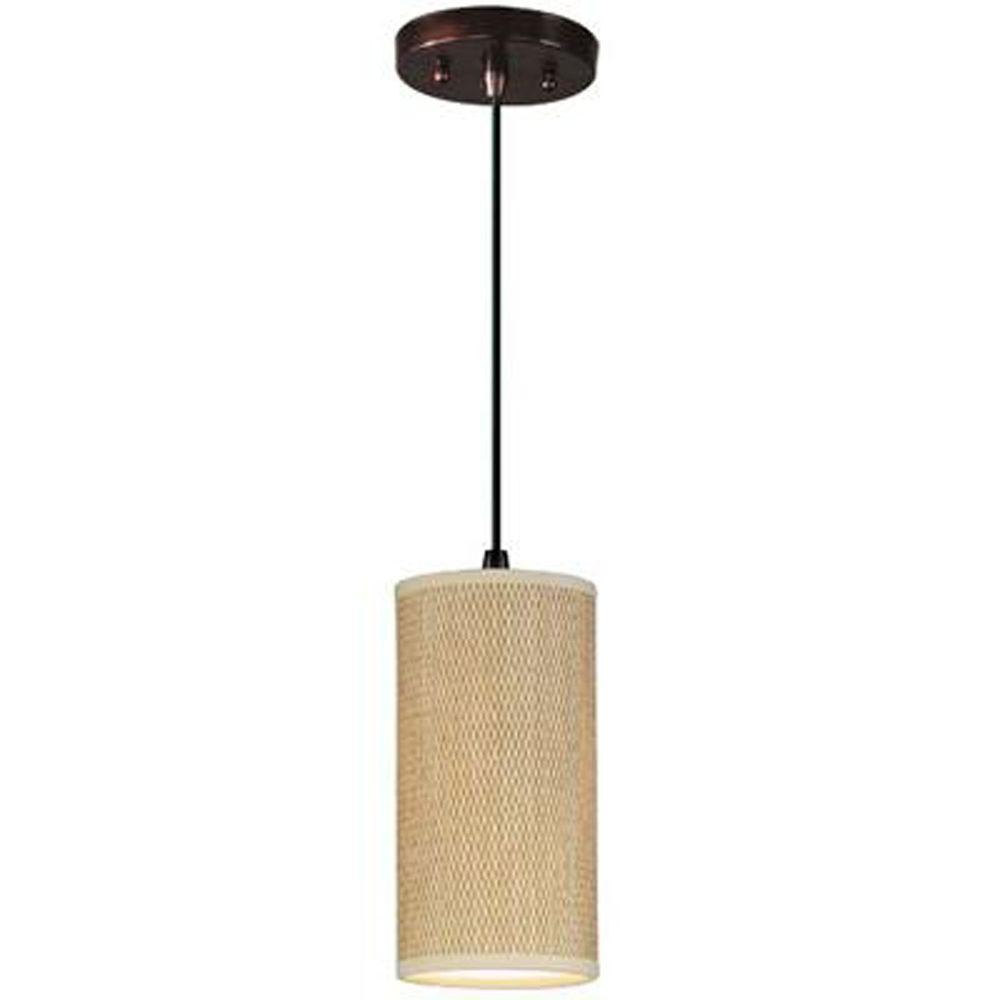 Elements 1-Light Oil-Rubbed Bronze Pendant With Cord