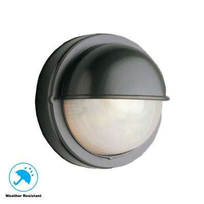 Mesa II 1-Light Black Bulkhead