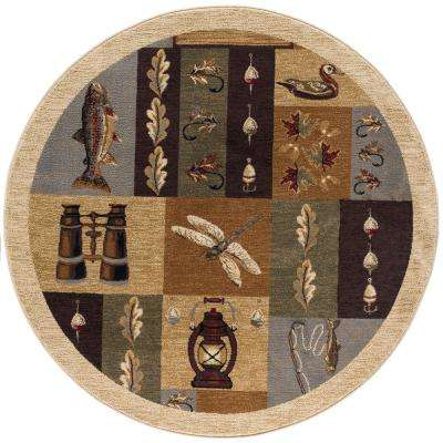 Nature Beige 7 ft. 10 in. Round Area Rug
