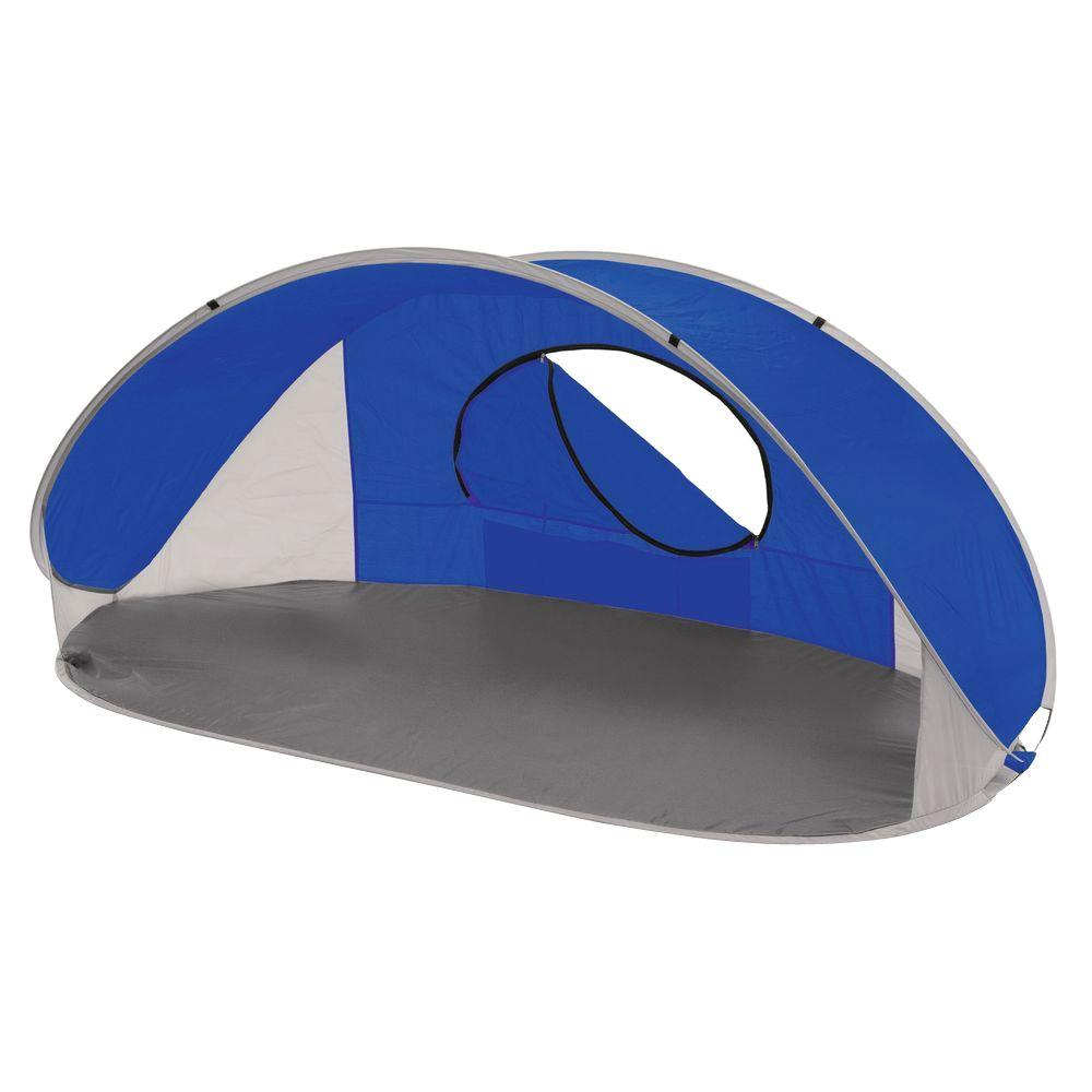 Picnic Time Manta Sun Shelter In Blue Grey And Silver