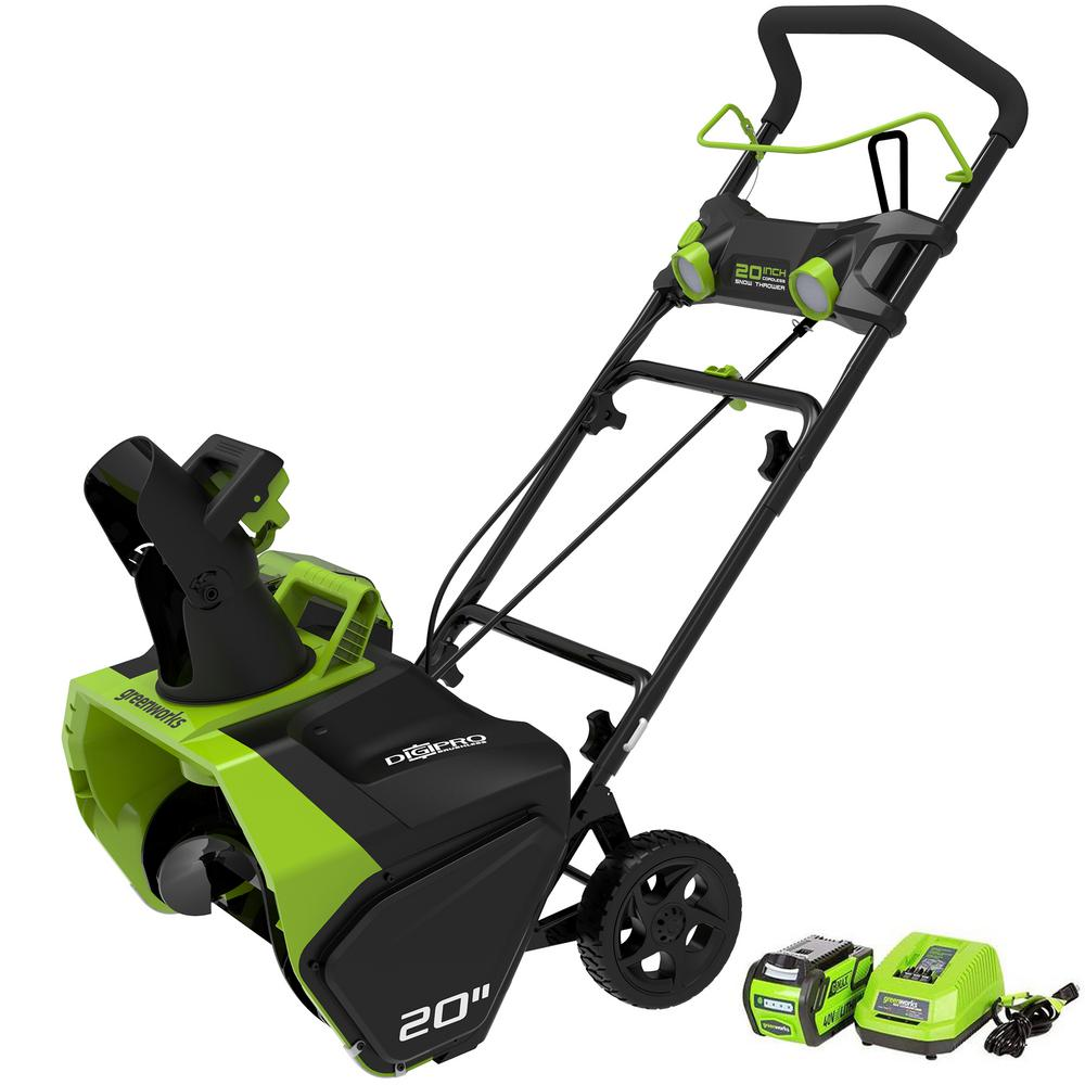 Greenworks Digi-Pro GMAX 20 in. 40-Volt Cordless Electric Snow Blower - Battery and Charger Included