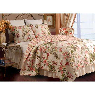 Butterflies 3-Piece Multi Full and Queen Quilt Set