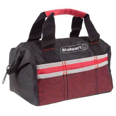 12 in. Wide-Mouth Tool Bag in Red