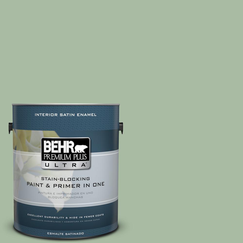 1 gal. #T17-07 Balanced Satin Enamel Interior Paint
