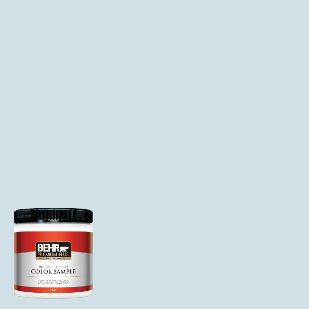 8 oz. #530E-2 Cool Sky Flat Interior/Exterior Paint and Primer in