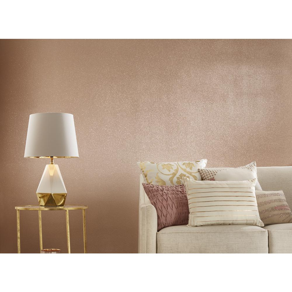 Rust Oleum Specialty 1 Qt Rose Gold Glitter Interior Paint 2 Pack 344699 The Home Depot