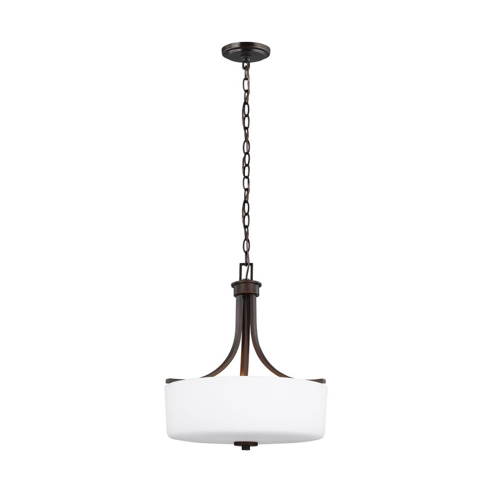 Sea Gull Lighting Canfield 3-Light Burnt Sienna Pendant