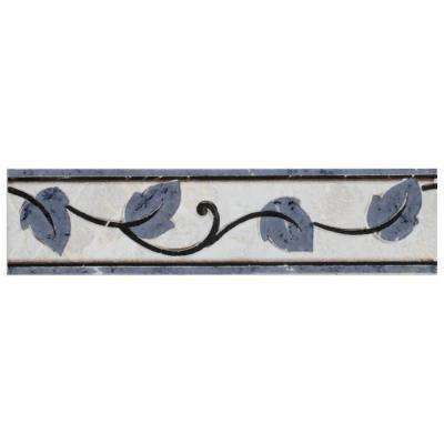 Aroas Listello Gris 2 in. x 8 in. Ceramic Wall Trim Tile