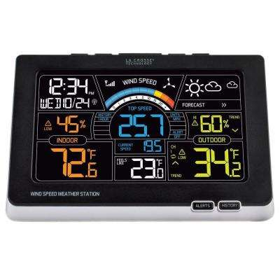 Professional Digital Wireless Color Wind Speed and Weather Station