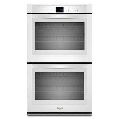 27 in. Double Electric Wall Oven Self-Cleaning in White