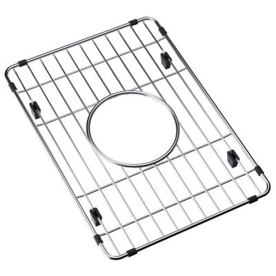 Fireclay 10.4375 in. x 14.5625 in. Bottom Grid for Kitchen Sink in Stainless Steel