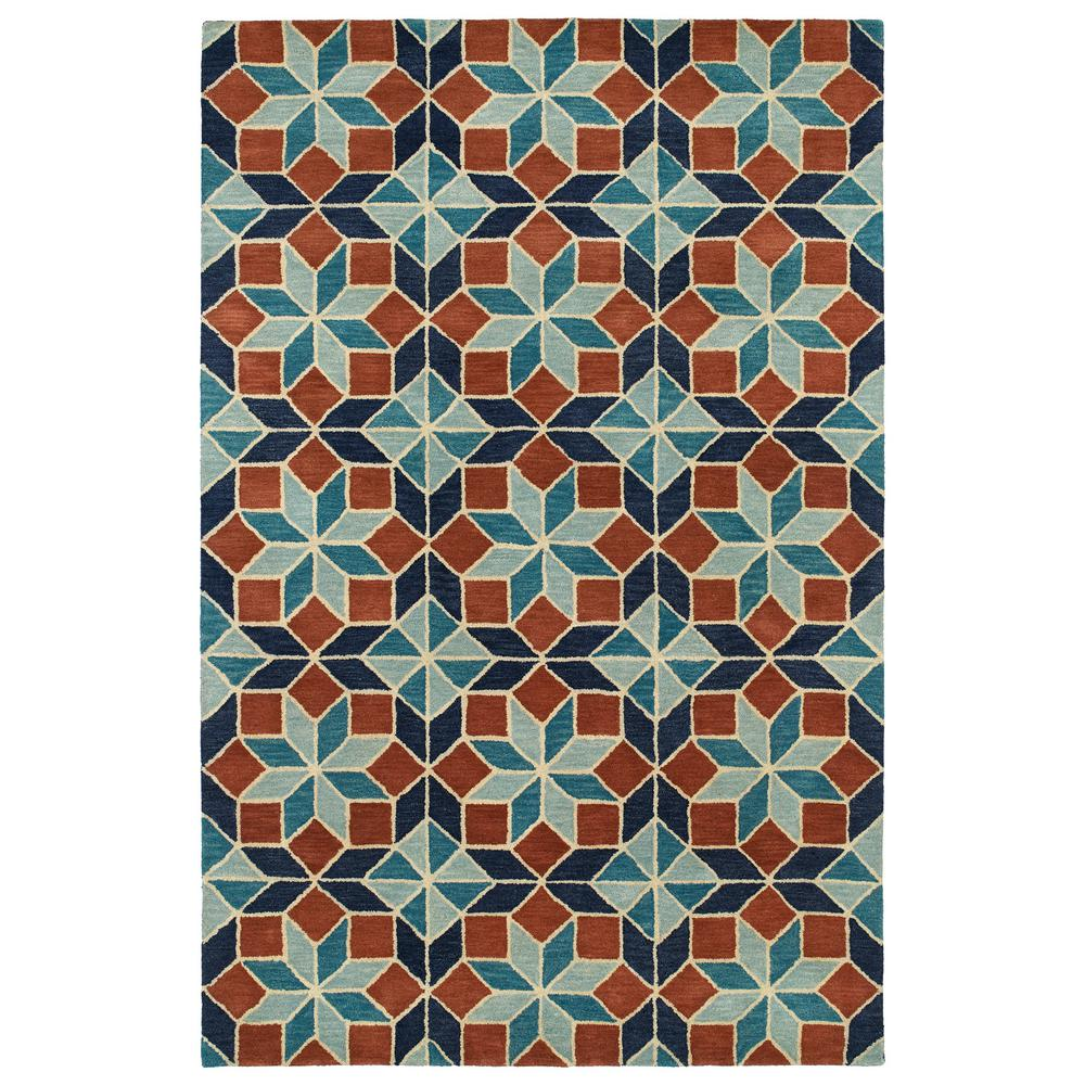 Art Tiles Turquoise 5 ft. x 7 ft. 9 in. Area