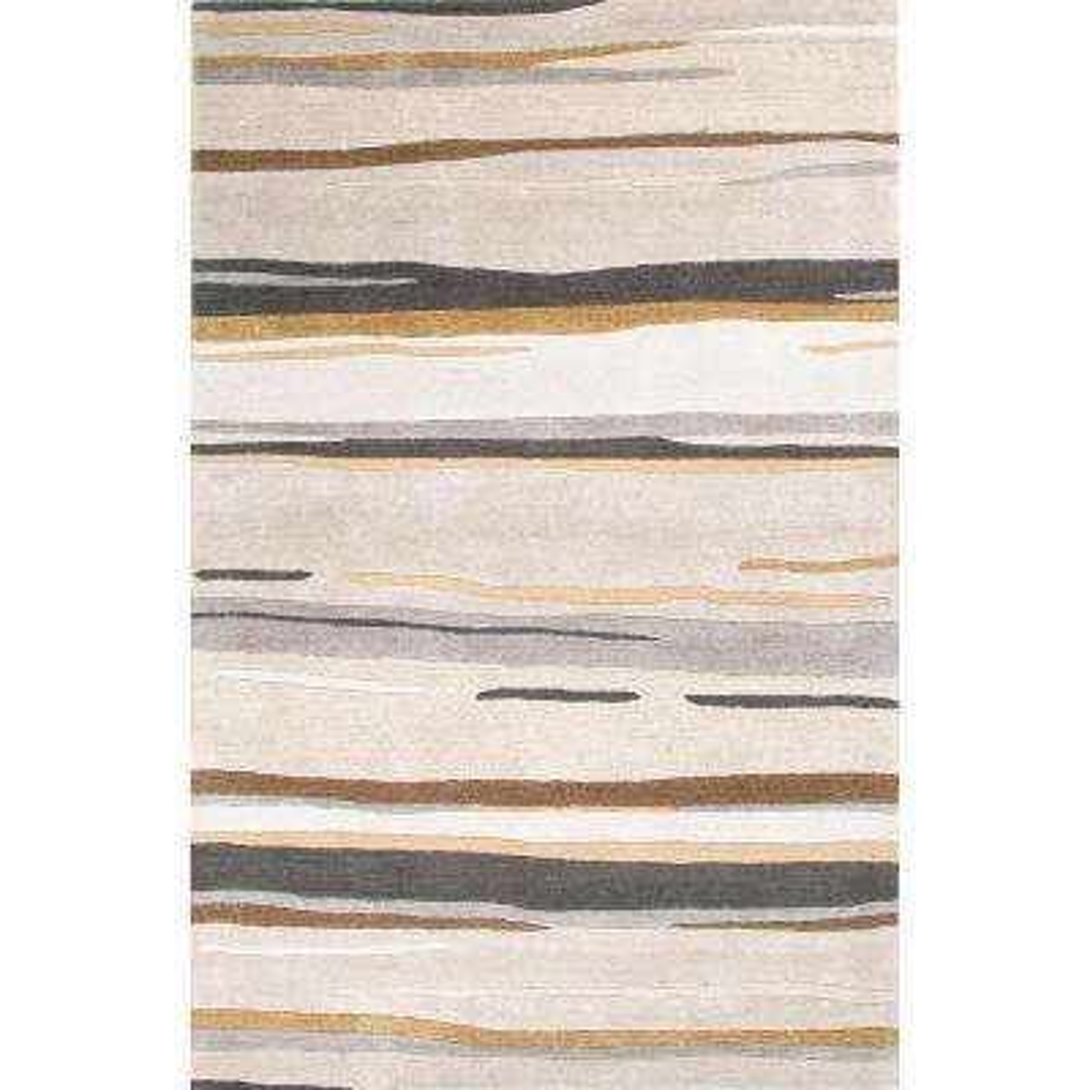 Light Gray 3 ft. x 8 ft. Abstract Runner Rug