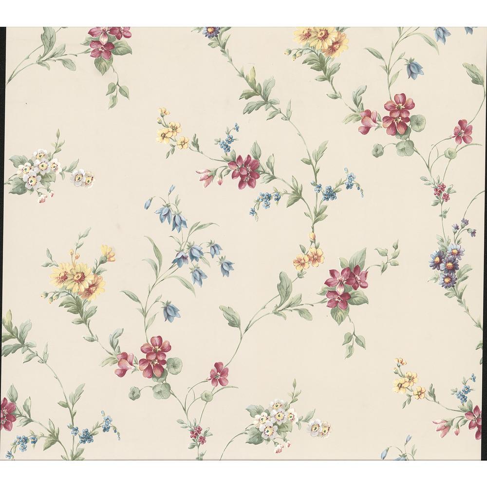 Marcus Cream Floral Trail Wallpaper
