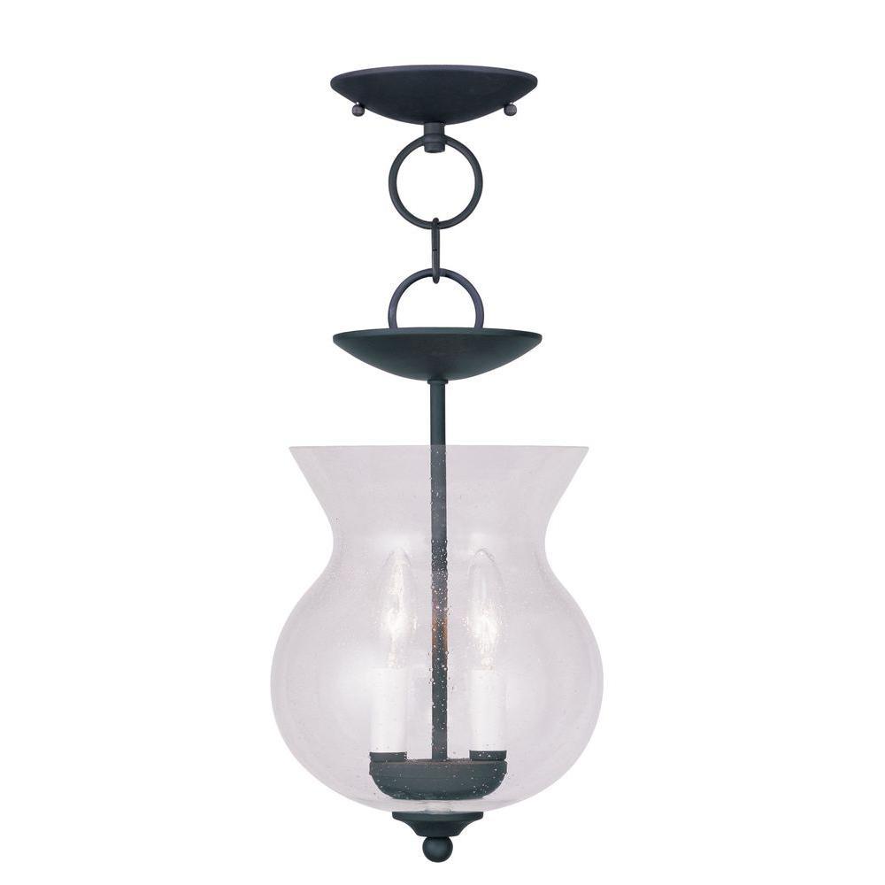 Providence 2-Light Black Incandescent Ceiling Pendant