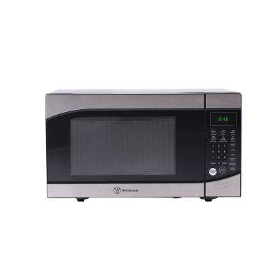 0.9 cu. ft. 900-Watt Countertop Microwave in Stainless Steel Front and Black Body
