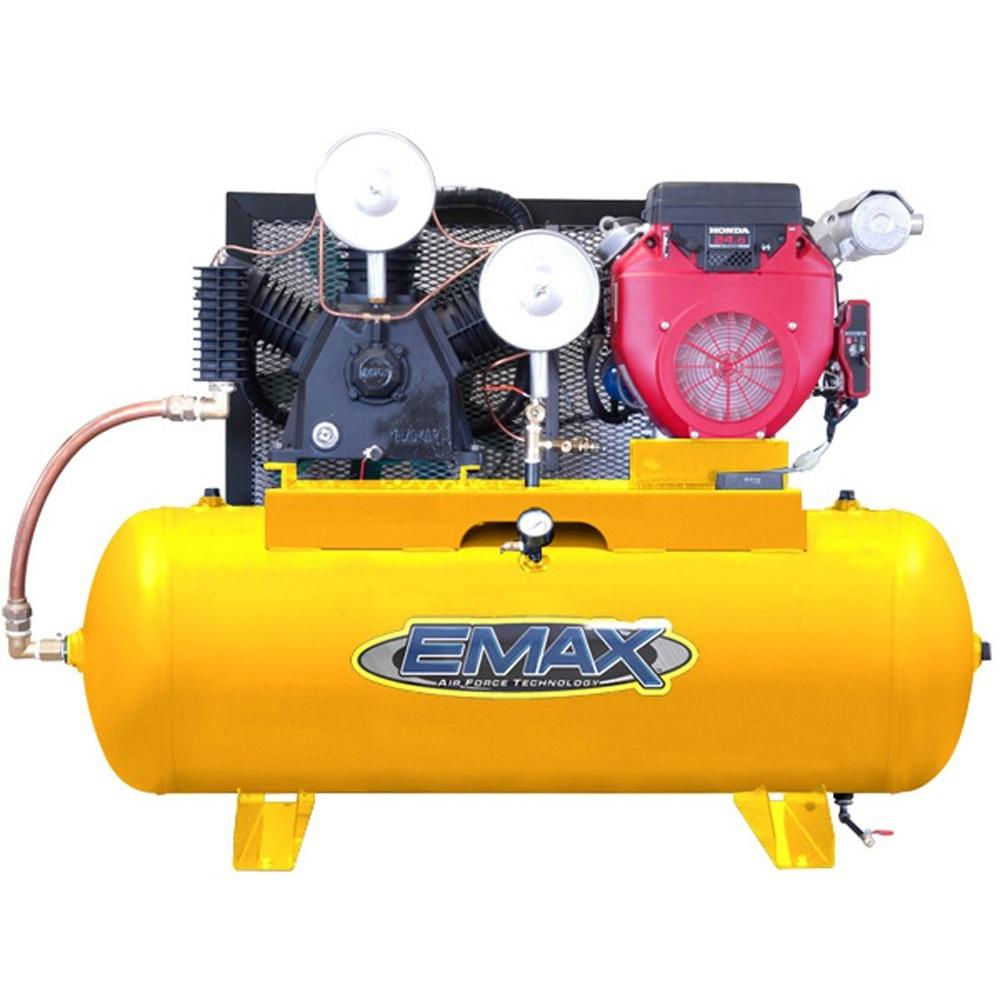 EMAX 80-Gal. 24 HP Gas Horizontal Air Compressor with Honda Engine-DISCONTINUED