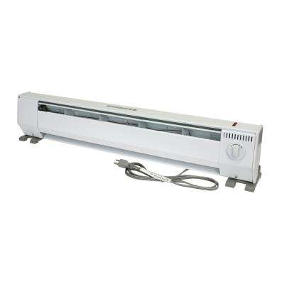 KP Portable 3 ft. 120-Volt 1000-Watt Baseboard Heater in White