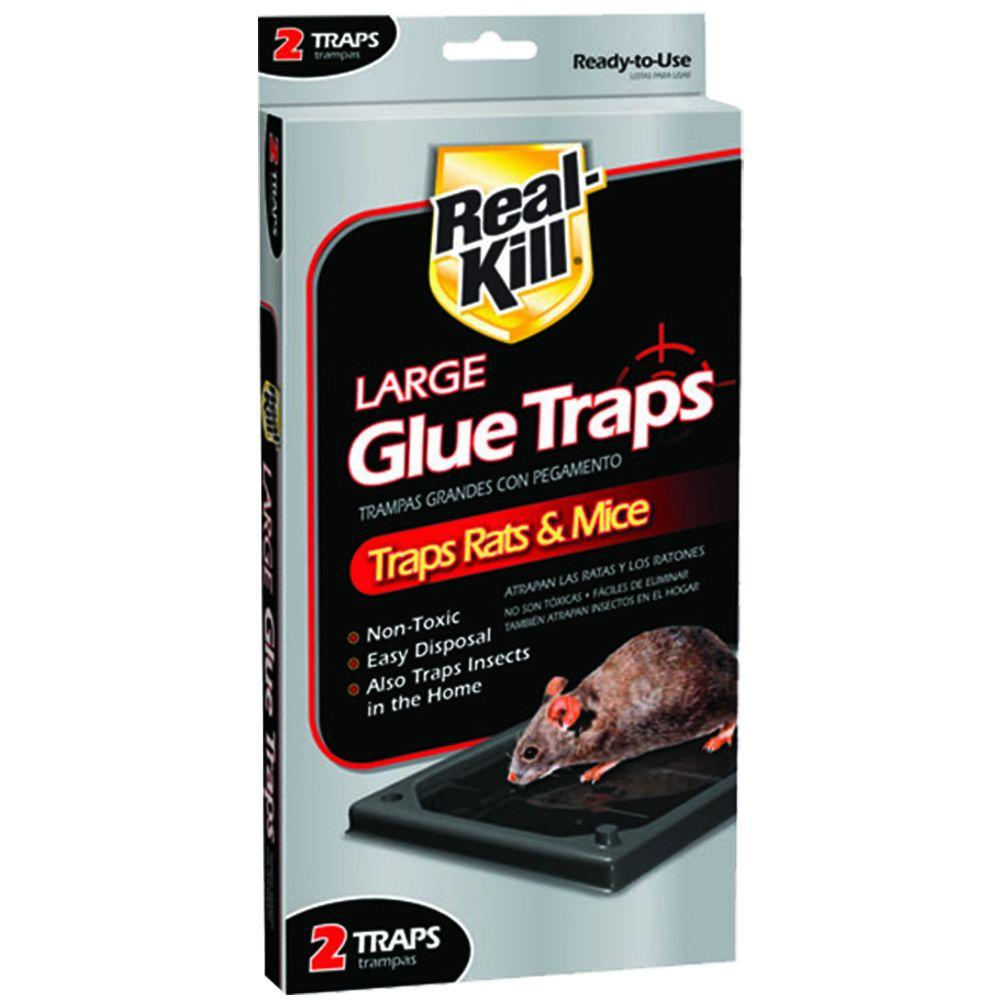 Real-Kill Large Glue Traps 2 ct Non-Toxic, Ready-to-Use Rat Control
