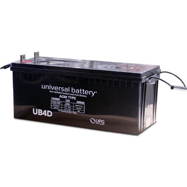 12-Volt 200 Ah L4 Terminal Sealed Lead Acid (SLA) AGM Rechargeable Battery