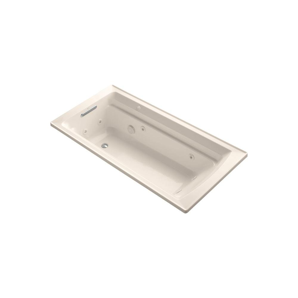 KOHLER Archer 6 ft. Whirlpool Tub in Innocent Blush-DISCONTINUED