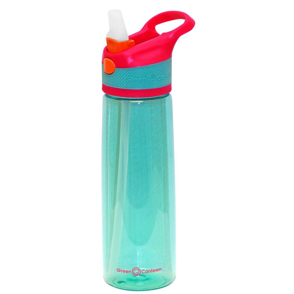 24 oz. Pink and Aqua Plastic Tritan Hydration Bottle (6-Pack)