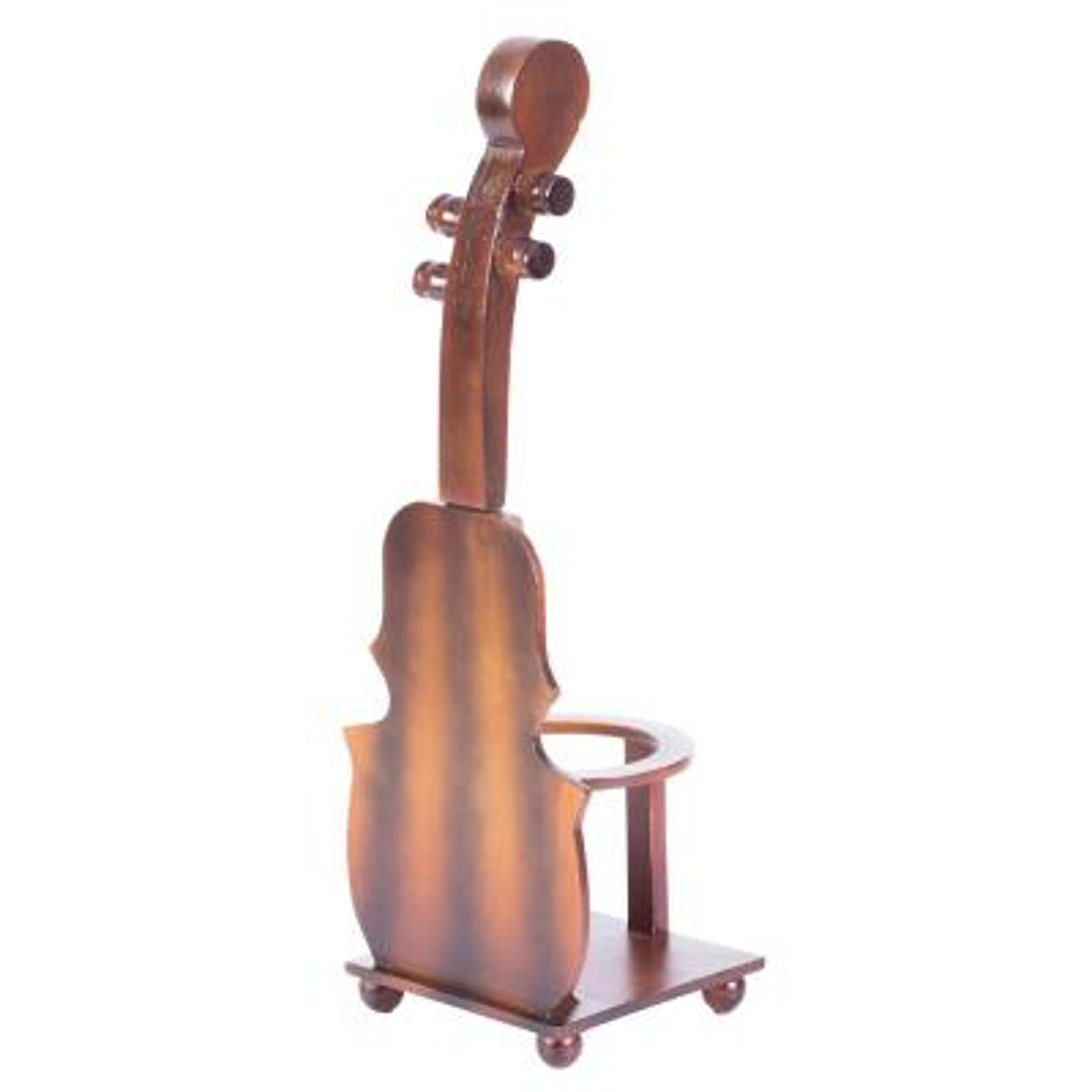 Single Bottle Brown Cello Shaped