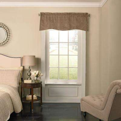 Barrou 18 in. L Taupe Rod Pocket Valance, (1-Pack)
