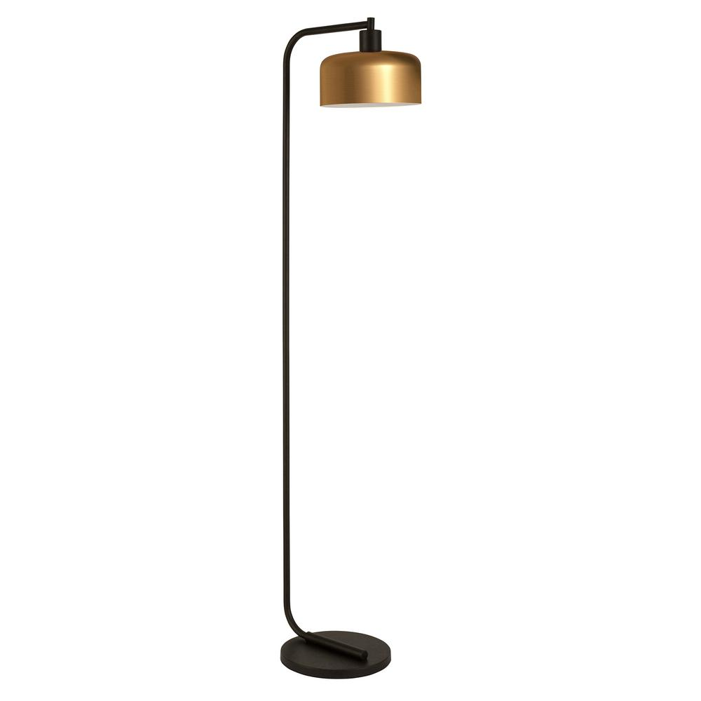 Hudson&Canal Cadmus 57 in. Blackened Bronze Floor Lamp