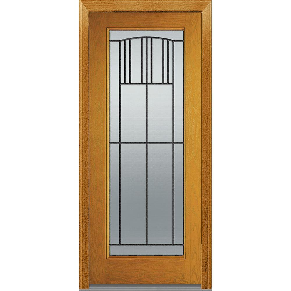 32 In. X 80 In. Madison Left Hand Full Lite Classic Stained