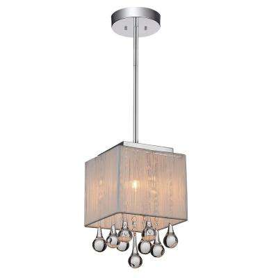 Water Drop 1 Light Chrome Pendant · Crystal ...