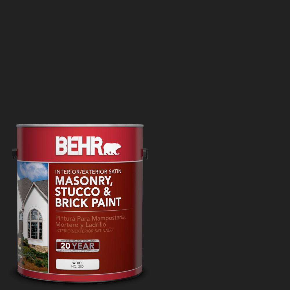 1 gal. #SC-102 Slate Satin Interior/Exterior Masonry, Stucco and Brick Paint