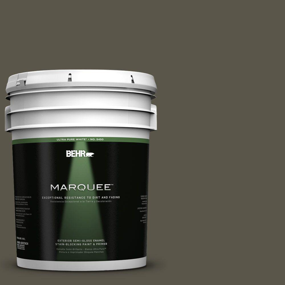 BEHR MARQUEE 5-gal. #780D-7 Wild Rice Semi-Gloss Enamel Exterior Paint