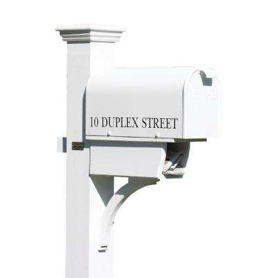 Lazy Hill Farm Designs White Post-Mounted Bristol Mailbox