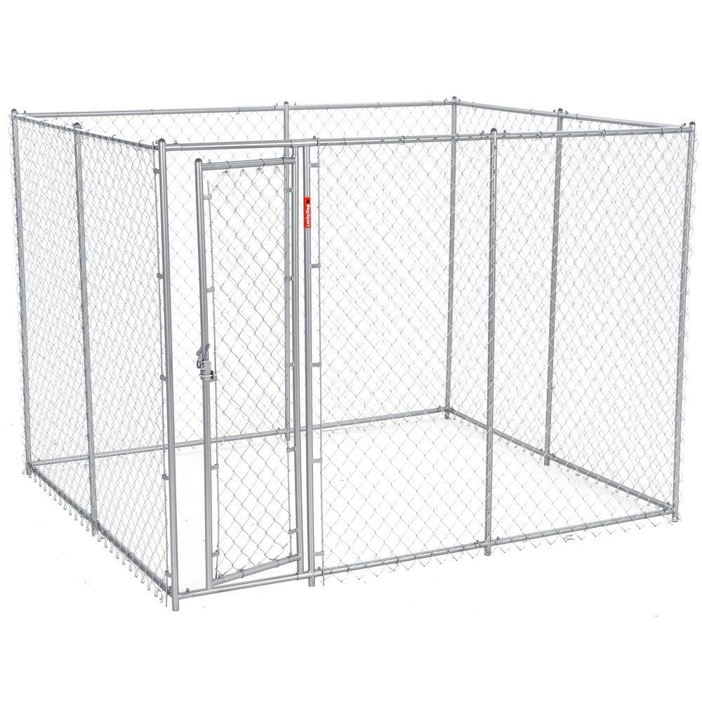 Lucky Dog 6 Ft H X 5 Ft W X 10 Or 6 Ft H X 8 Ft W X 6 5 Ft L 2 In 1 Galvanized Chain Link With Pc Frame Box Kit Cl 61028ez The Home Depot