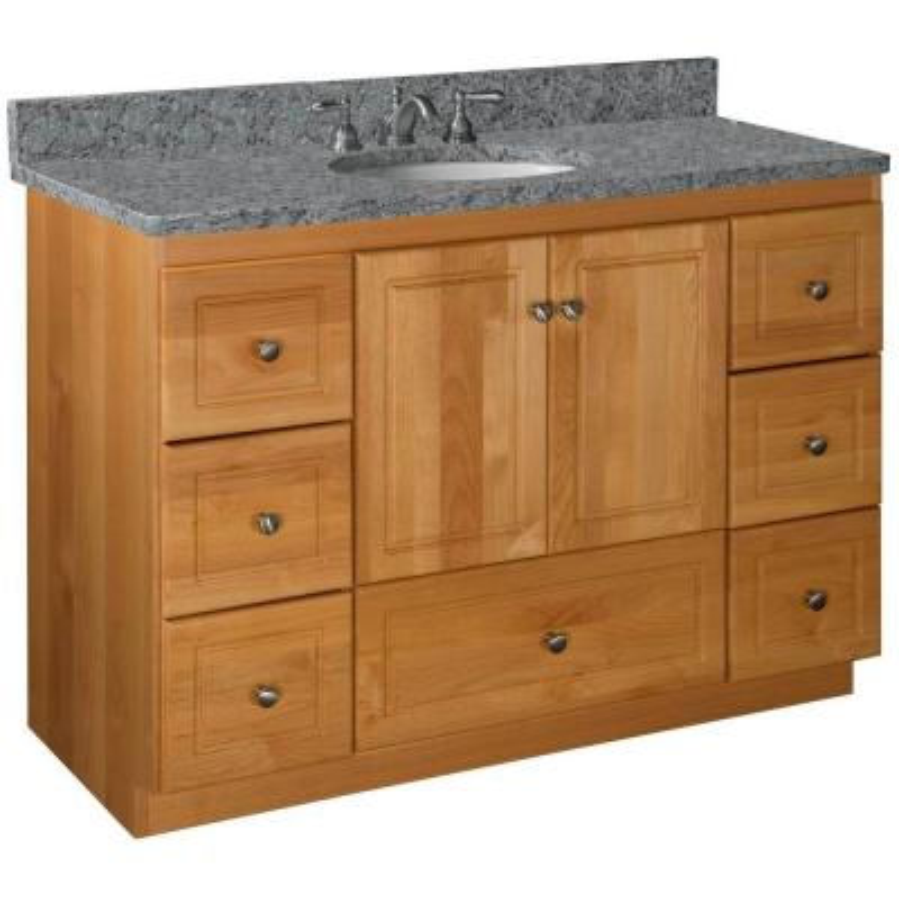 Ultraline 48 in. W x 21 in. D x 34.5 in. H Vanity Cabinet Only in Natural Alder
