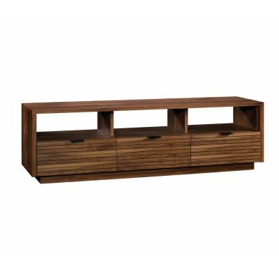 Harvey Park 71 in. Grand Walnut Particle Board TV Stand with 3 Drawer Fits TVs Up to 70 in. with Built-In Storage
