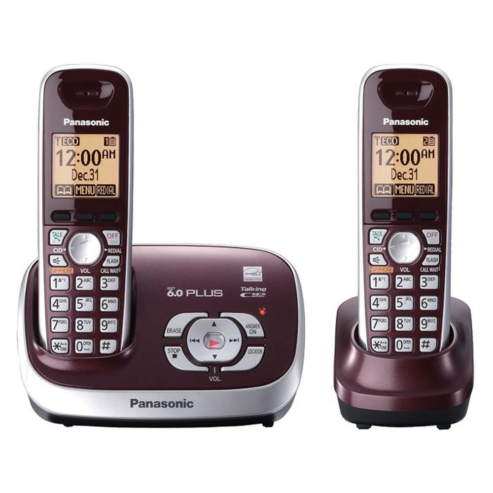 Panasonic DECT 6.0+ Cordless Phone with Digital Answering System, Caller ID and 2 Handsets-DISCONTINUED
