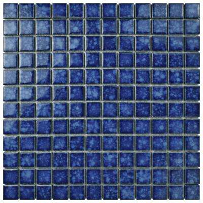 Lagoon Square Pacific 11-3/4 in. x 11-3/4 in. x 6 mm Porcelain Mosaic Tile