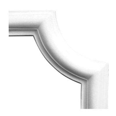 1 in. x 6-1/8 in. x 6-1/8 in. Plain Polyurethane Panel Moulding