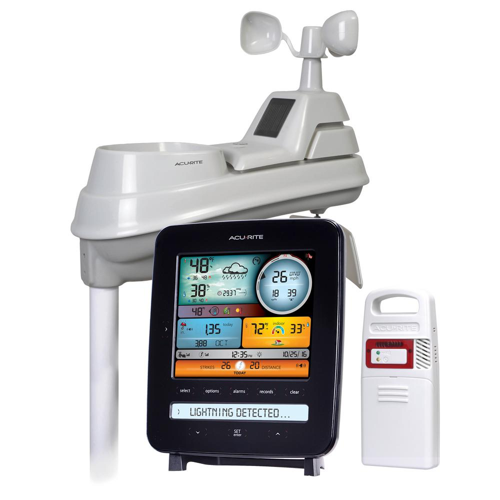 AcuRite 5-in-1 Weather Station with Lightning Detection-01022M ...